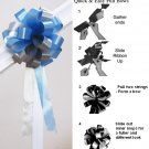 "10 LIGHT BABY BLUE SILVER 8"" WEDDING PULL PEW BOW FOR BRIDAL CAKE GIFT BASKET DECORCATION PB174"
