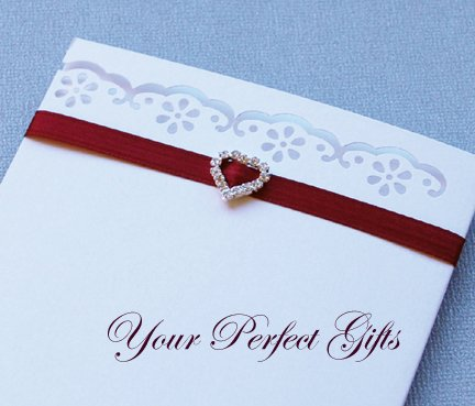 650 HEART Silver Diamante Rhinestone Ribbon Buckle Sliders For Wedding Invitation Card