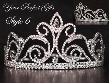 "3"" Swarovski Crystal Rhinestone Bridal Pageant Wedding Party Tiara Comb Crown Headband"