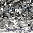 1000 Acrylic Round Faceted Flat Back Rhinestone 4mm Clear Wedding Invitation scrapbooking LR003