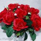 Swarovski Crystal Rhinestone Heart Bouquet Flower Centerpiece Jewelry BJ002