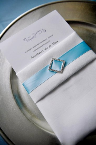 "24 DIAMOND SQUARE 1"" Silver Diamante Rhinestone Crystal Buckle Sliders Wedding Invitation BK045"