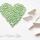 500 Acrylic Round Faceted Flat Back Light Green Rhinestone 5mm Wedding Invitation Scrapbooking LR021