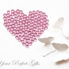 1000 Acrylic Flat Back Light Rose Pink Rhinestone 4mm Wedding Invitation scrapbooking LR051