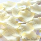 1000 LIGHT YELLOW BUTTER CREAM SILK ROSE PETALS WEDDING DECORATION FLOWER FAVOR RP016