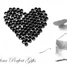 100 Acrylic Faceted Flat Back Rhinestone 7mm Jet Black Wedding Invitation scrapbooking LR008