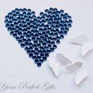 100 Acrylic Faceted Flat Back Rhinestone 7mm Dark Indigo Blue Wedding Invitation scrapbooking LR091