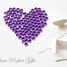 100 Acrylic Faceted Flat Back Rhinestone 7mm Amethyst Purple Wedding Invitation scrapbooking LR048