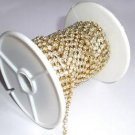 3 Yards SS28 6mm Rhinestone Chain Crystal Gold Plated Wedding Cake Banding Jewelry RCO22