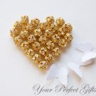 10 pcs Swarovski Rhinestone Crystal Gold Plated Bead Spacer Ball 8mm AC013