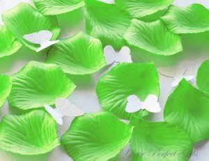 1000 LIME GREEN SILK ROSE PETALS WEDDING DECORATION FLOWER FAVOR RP017