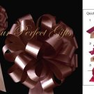 "10 CHOCOLATE BROWN 8"" WEDDING PULL PEW BOWS FOR BRIDAL CAKE GIFT BASKET DECORCATION PB005"
