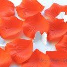 1000 PERSIMMON BRIGHT ORANGE SILK ROSE PETALS WEDDING DECORATION FLOWER FAVOR RP006
