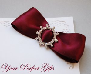 "1 pc ROUND CIRCLE 1.3"" Silver Diamante Rhinestone Crystal Buckle Slider Wedding Invitation BK006"