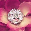 1 pc Round Circle 19mm Diamante Rhinestone Crystal Button Hair Clip Wedding Invitation BT018