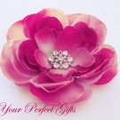 """50 Flower 7/8"""" Silver Diamante Rhinestone Buckle Slider Flip Flop Wedding Invitation Bouquet BK072"""