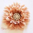 50 Round Circle Two Row Diamante Rhinestone Crystal Button Hair Clip Wedding Invitation Ring BT037