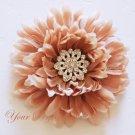 20 Round Circle Diamante Rhinestone Crystal Button Hair Clip Wedding Invitation Ring Pillow BT028