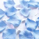 1000 BABY LIGHT PASTEL BLUE SILK ROSE PETALS WEDDING DECORATION FLOWER FAVOR RP020