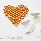 100 Acrylic Round Faceted Flat Back Rhinestone 7mm Orange Wedding Invitation scrapbooking LR056