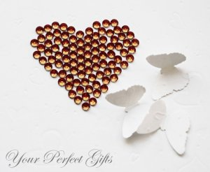 100 Acrylic Faceted Flat Back Rhinestone 7mm Brown Wedding Invitation scrapbooking LR079