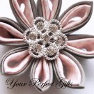 50 Round Circle Diamante Rhinestone Crystal Button Hair Clip Wedding Invitation Ring Pillow BT026