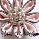 10 Round Circle Diamante Rhinestone Crystal Button Hair Clip Wedding Invitation Ring Pillow BT013