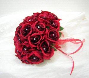 20 Rose Pink Swarovski Rhinestone Jewels 5mm Handmade Crystal Bouquet Centerpiece Stem Jewelry BJ022