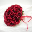 20 Siam Red Swarovski Rhinestone Jewels 5mm Handmade Crystal Bouquet Centerpiece Stem Jewelry BJ017