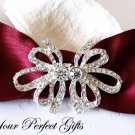 50 Bow Rhinestone Crystal Buckle Slider Closure Clasp Wedding Invitation Cake Decoration BK091