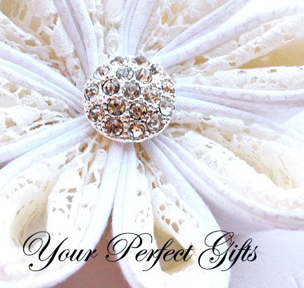100 Round Circle Diamante Rhinestone Crystal Button Hair Flower Clip Wedding Invitation Ring BT034