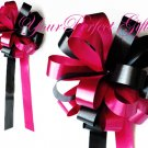 "10 APPLE RED & BLACK 8"" WEDDING PULL PEW BOWS FOR BRIDAL CAKE GIFT BASKET DECORATION PB051"