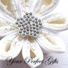 "50 Fancy 1"" Diamante Rhinestone Crystal Button Hair Flower Clip Wedding Invitation Ring Pillow BT043"