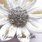 1 pc Round Circle 30mm Diamante Rhinestone Crystal Button Wedding Invitation BT032