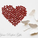1000 Round Burgundy Dark Garnet Red Acrylic Rhinestone 3mm Wedding Invitation scrapbooking LR058
