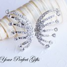 "1 pc 1.65"" Rhinestone Crystal Diamante Silver Butterfly Brooch Pin Jewelry Cake Decoration BR029"