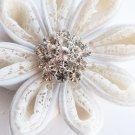 "1 pc Round Diamante 1.1"" (27mm) Rhinestone Crystal Button Hair Clip Wedding Invitation BT019"