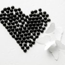 100 Black Half Round Flat Back Pearl 7mm Wedding Invitation scrapbooking Phone Case Nail Art LP030
