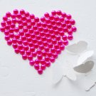 1000 Fuchsia Hot Pink Half Round Flat Back Pearl 3mm Wedding Invitation scrapbooking LP042