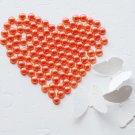 1000 Persimmon Hot Orange Half Round Flat Back Pearl 3mm Wedding Invitation scrapbooking LP010