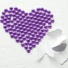 1000 Dark Eggplant Purple Round Flat Back Pearl 4mm Wedding Invitation scrapbooking Nail Art LP003