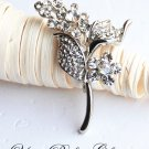 1 pc 48mm Fancy Flower Rhinestone Crystal  Diamante Silver Brooch Pin Jewelry Cake Decoration BR023