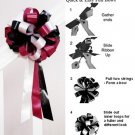 "10 APPLE RED WHITE BLACK 8"" WEDDING PULL PEW BOW FOR BRIDAL CAKE GIFT BASKET DECORATION PB061"
