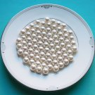 Light Ivory Cream 100 pcs Half Drilled Round Pearl 8mm For Wedding Jewelry Earstuds Making LP035