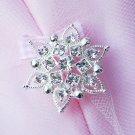 "10 pcs Round 1.2"" (30mm) Diamante Rhinestone Crystal Button Hair Clip Wedding Invitation BT086"