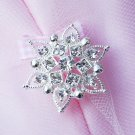 "100 pcs Round 1.2"" (30mm) Diamante Rhinestone Crystal Button Hair Clip Wedding Invitation BT086"