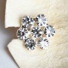 10 Round Diamante Rhinestone Crystal Button Hair Clip Wedding Invitation BT082