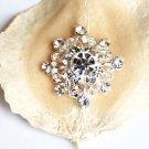 1 pc Diamond Square Diamante Rhinestone Crystal Button Hair Clip Wedding Invitation BT059