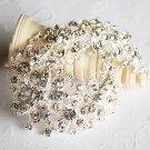 "1 pc 2-3/4"" Rhinestone Crystal Diamante Silver Flower Brooch Pin Jewelry Cake Decoration BR050"