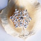 1 pc 25mm Rhinestone Button Round Diamante Crystal Hair Clip Wedding Invitation BT049